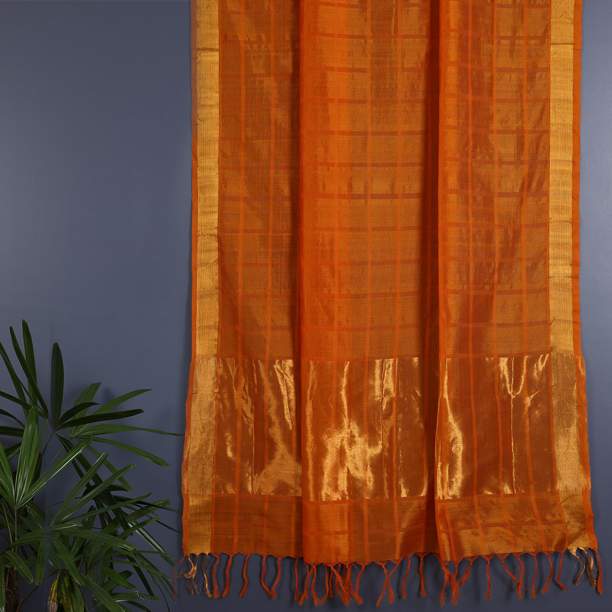 Kanjeevaram Handloom Cotton Silk Saree with Blouse 1