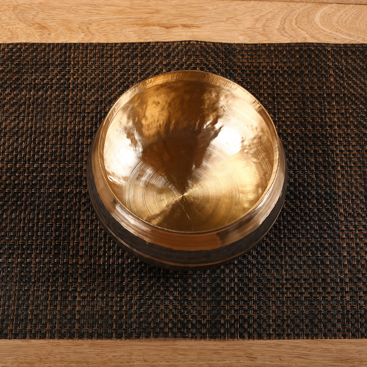 Large Deep Bowl in Kansa Kaam - Bell Metal Utensil