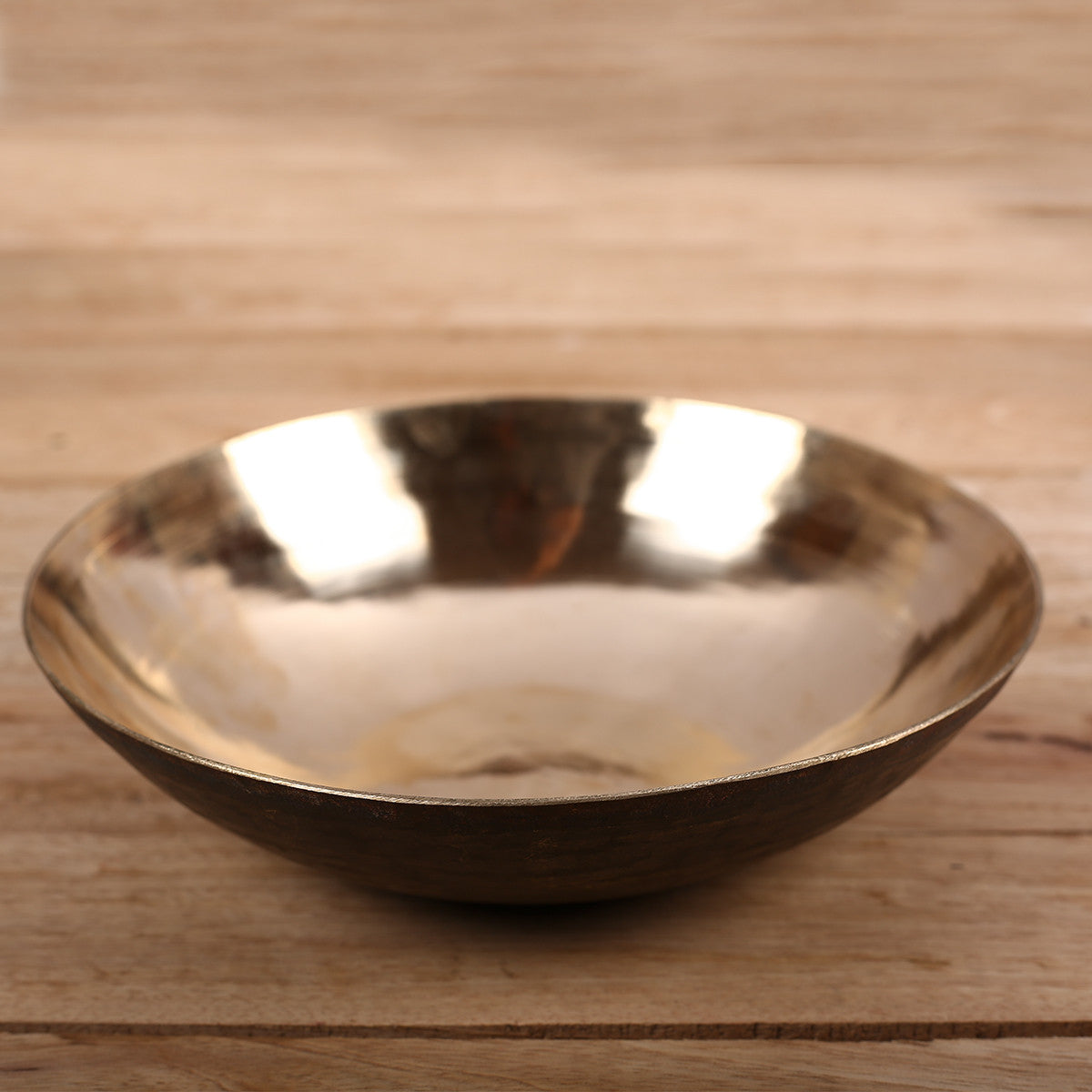 Serving Plate in Kansa Kaam - Bell Metal Utensil
