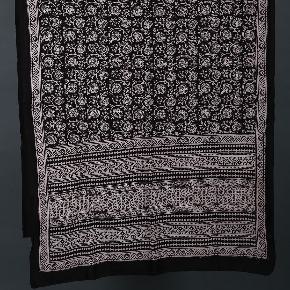Bagh Hand Block Printed Stole in Cotton 3