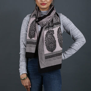 Bagh Hand Block Printed Stole in Cotton 9