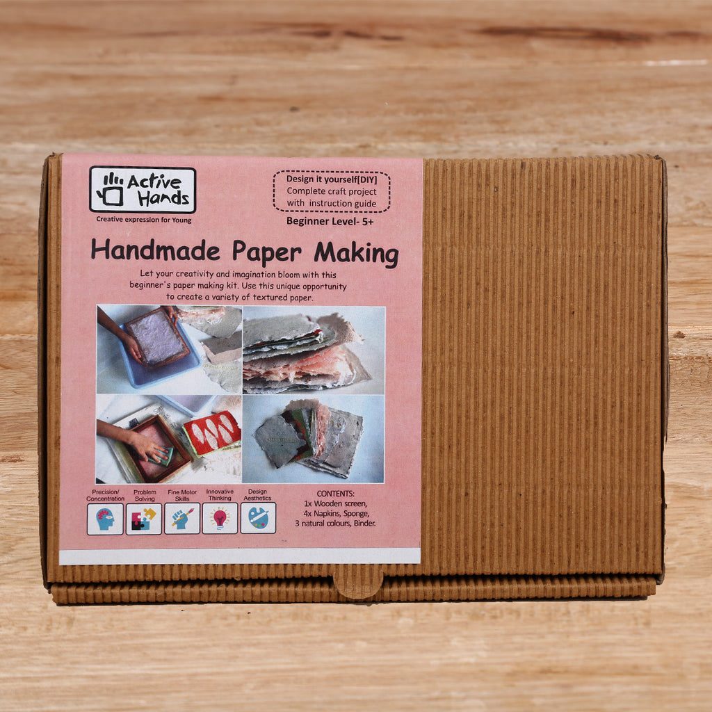 Active Hands Handmade Paper Making Do It Yourself Kit