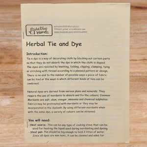 Active Hands Herbal Tie and Dye Crafts Do It Yourself Kit