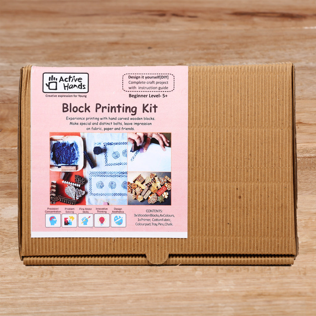 Active Hands Block Printing Do It Yourself Kit