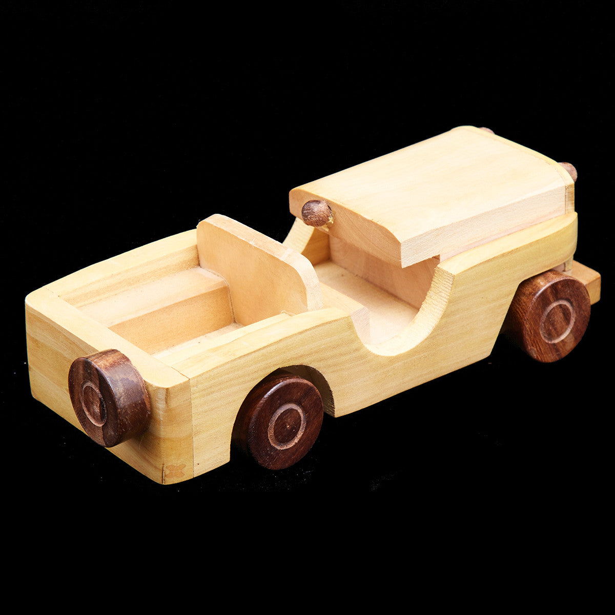 Handcrafted Wooden Toys from Saharanpur - Open Jeep