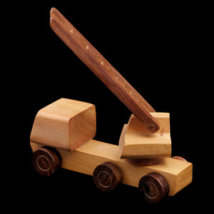 Handcrafted Wooden Toys from Saharanpur - Fire Truck