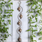 Kutch Metal Bell Wind Chimes - 5 Bell Waves Design