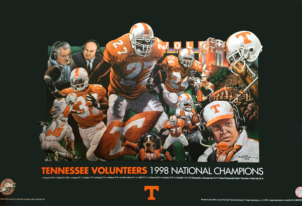 Official 1998 Tennessee Volunteers National Championship poster - Only 8 available!!