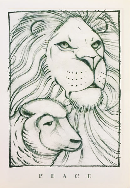 Lion and Lamb print ©1998