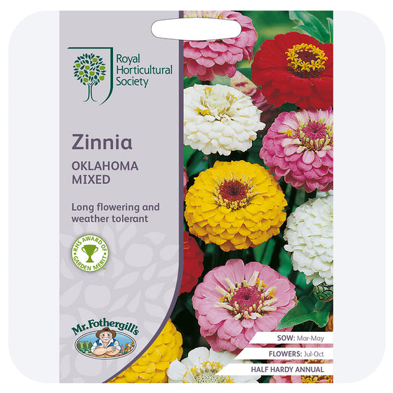 Zinnia 'Oklahoma Mix' Seeds