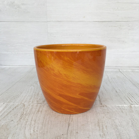 Yellow Marble Pot