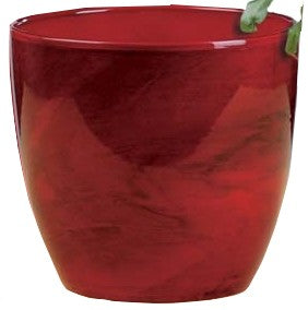 Red Marble Pot