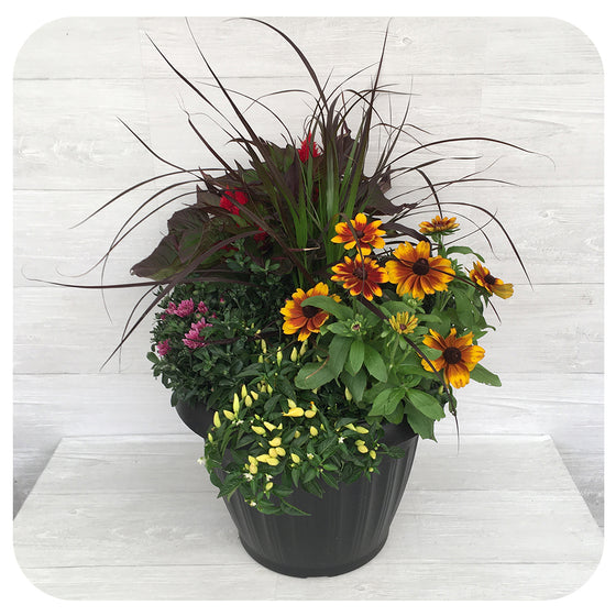 "Autumn Arrangement 15"" Round"