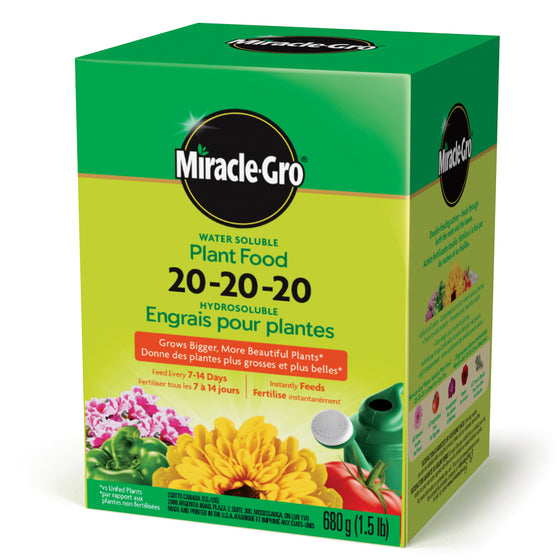 Miracle Gro 20-20-20 Water Soluble Plant Food