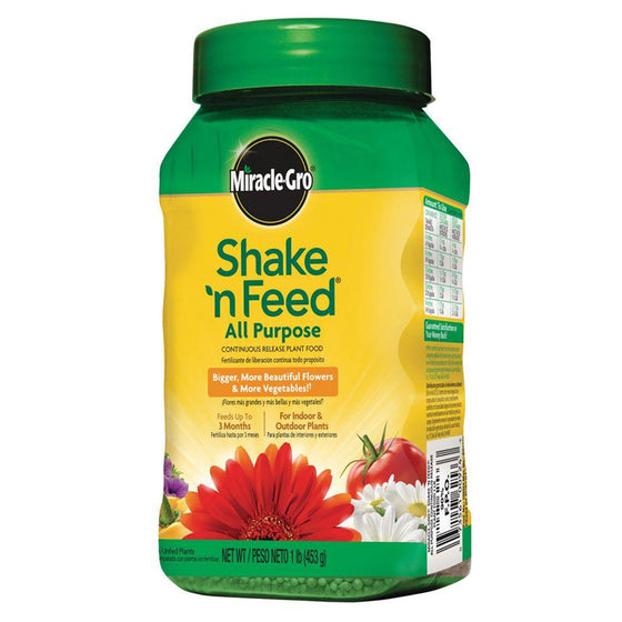 Miracle Grow Shake & Feed All Purpose Continuous Release Plant Food 12-4-8