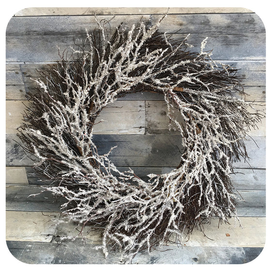 Frosty Branches Wreath