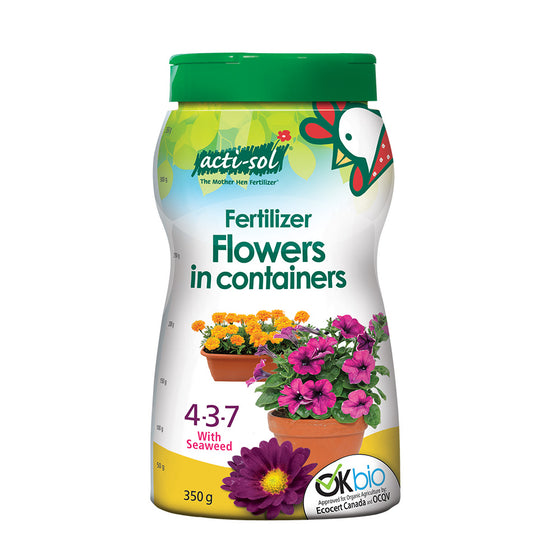Sprinkle-on Organic Fertilizer for Annual Flowers 4-3-7