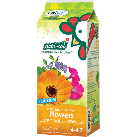 Actisol Perennial and Annual Flowers Organic Fertilizer 4-4-7