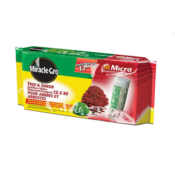 Miracle-Gro Tree and Shrub Fertilizer Spikes (12-Pack) 15-5-10