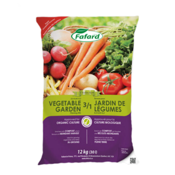 Fafard Organic 3/1 Vegetables Garden Planting Mix