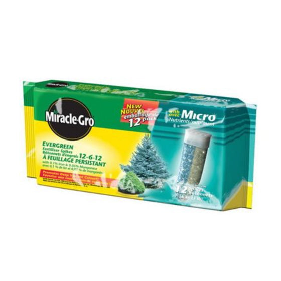 Miracle-Gro Evergreen Fertilizer Spikes (12-Pack) 12-6-12