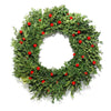 Eyeball boxwood wreath