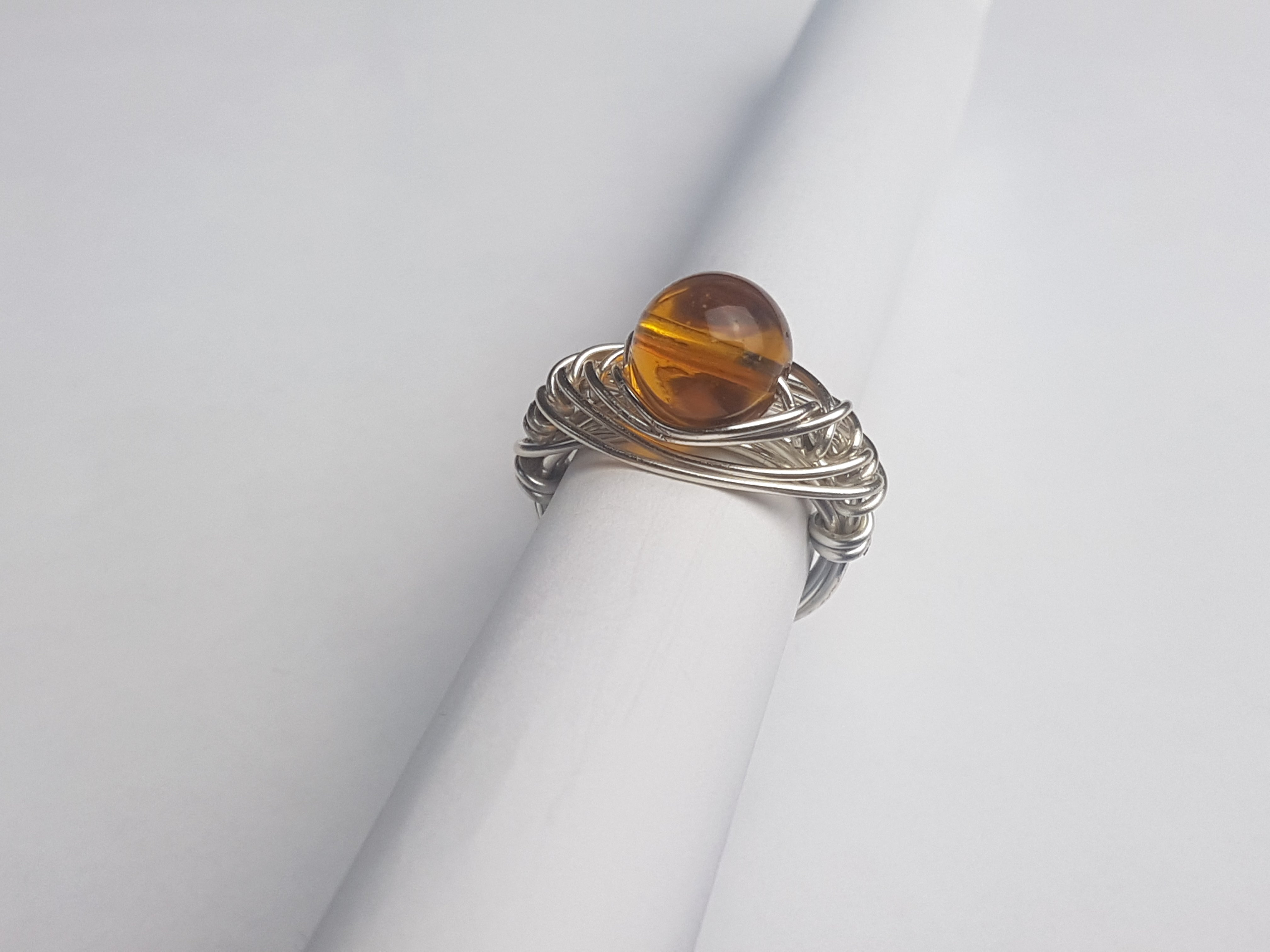 Eagle owl eye ring - Violet House