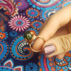 Jade copper ring, - Violet House