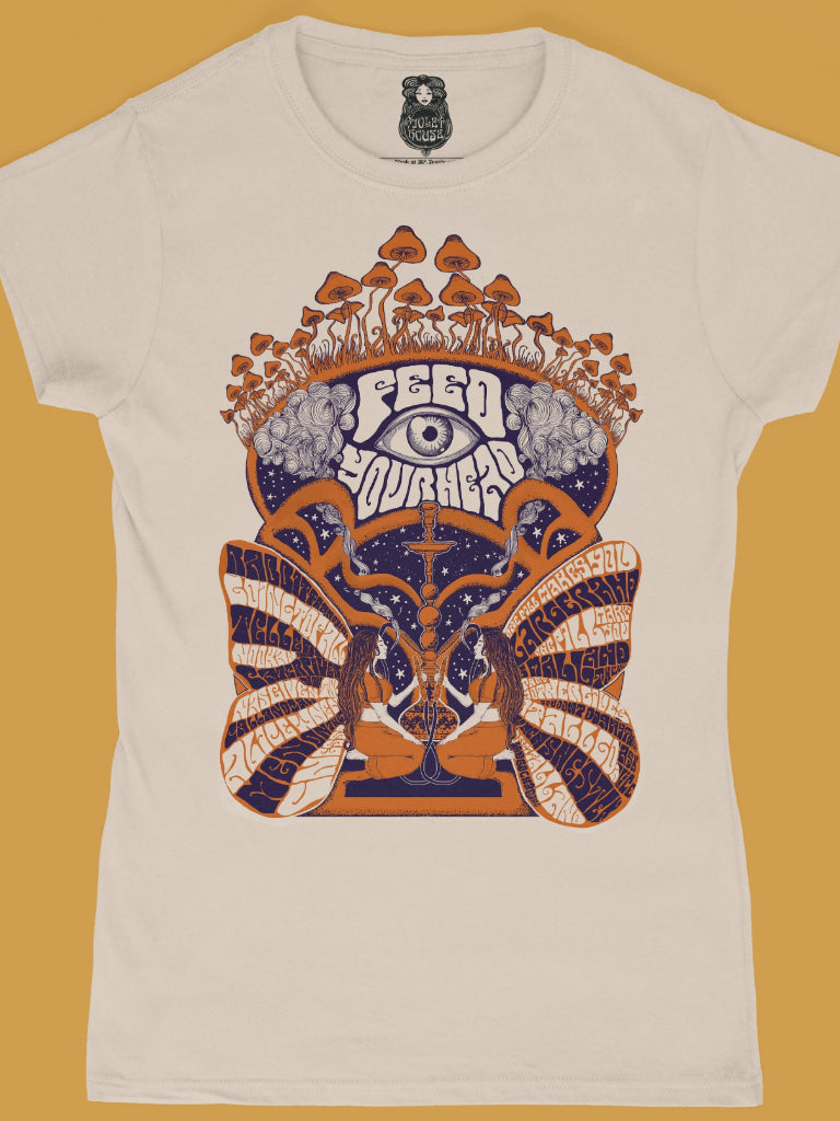 White Rabbit t shirt, women's fitted - Violet House