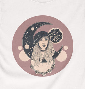 Stevie Nicks Shirt - Moon - White - Ladies - Violet House