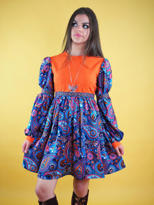 The Pattie Boyd Dress, purple paisley - Violet House
