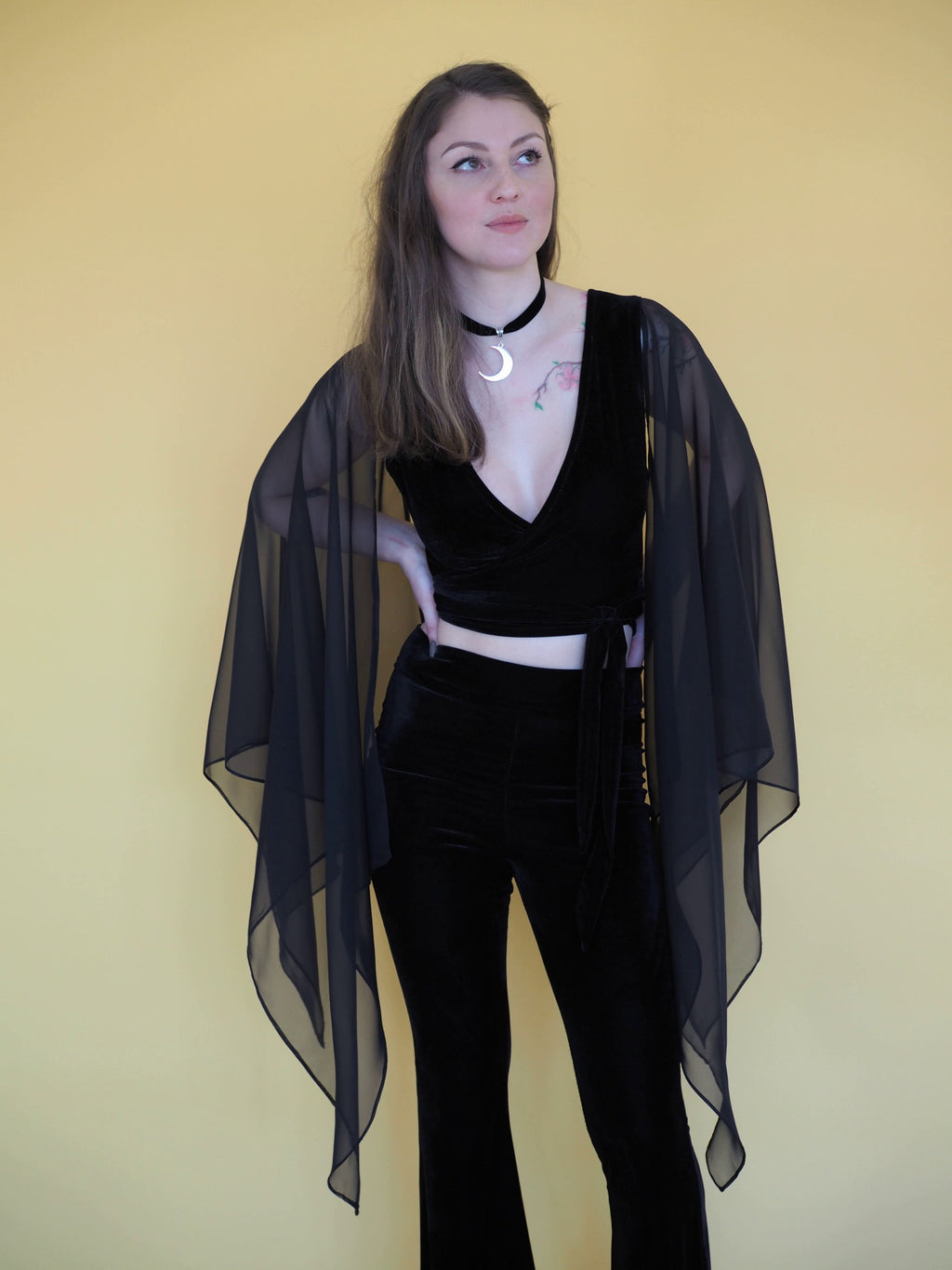Stevie Nicks Crop Top - Violet House