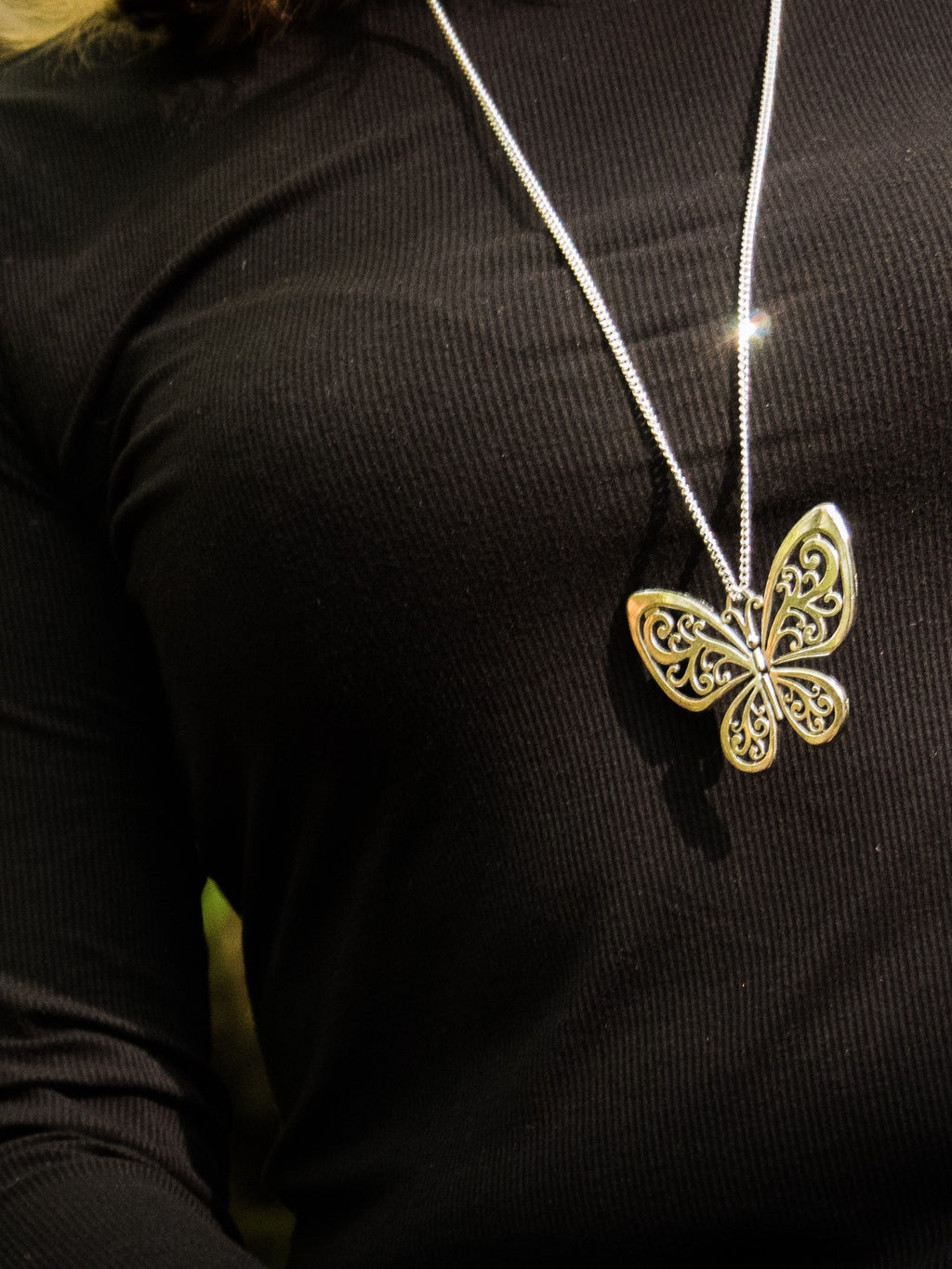 Butterfly Pendant Necklace - Violet House