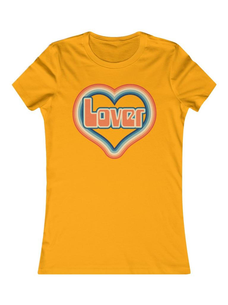 Rainbow lover Print fitted Tshirt - Violet House