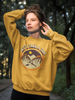 Unisex Take A Trip Magic Mushroom Sweatshirt Gold