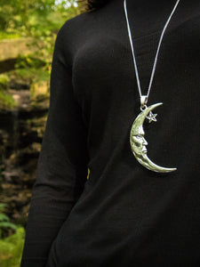Man in the Moon Pendant Necklace - Violet House
