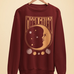 Unisex Moonchild Sweatshirt Burgundy