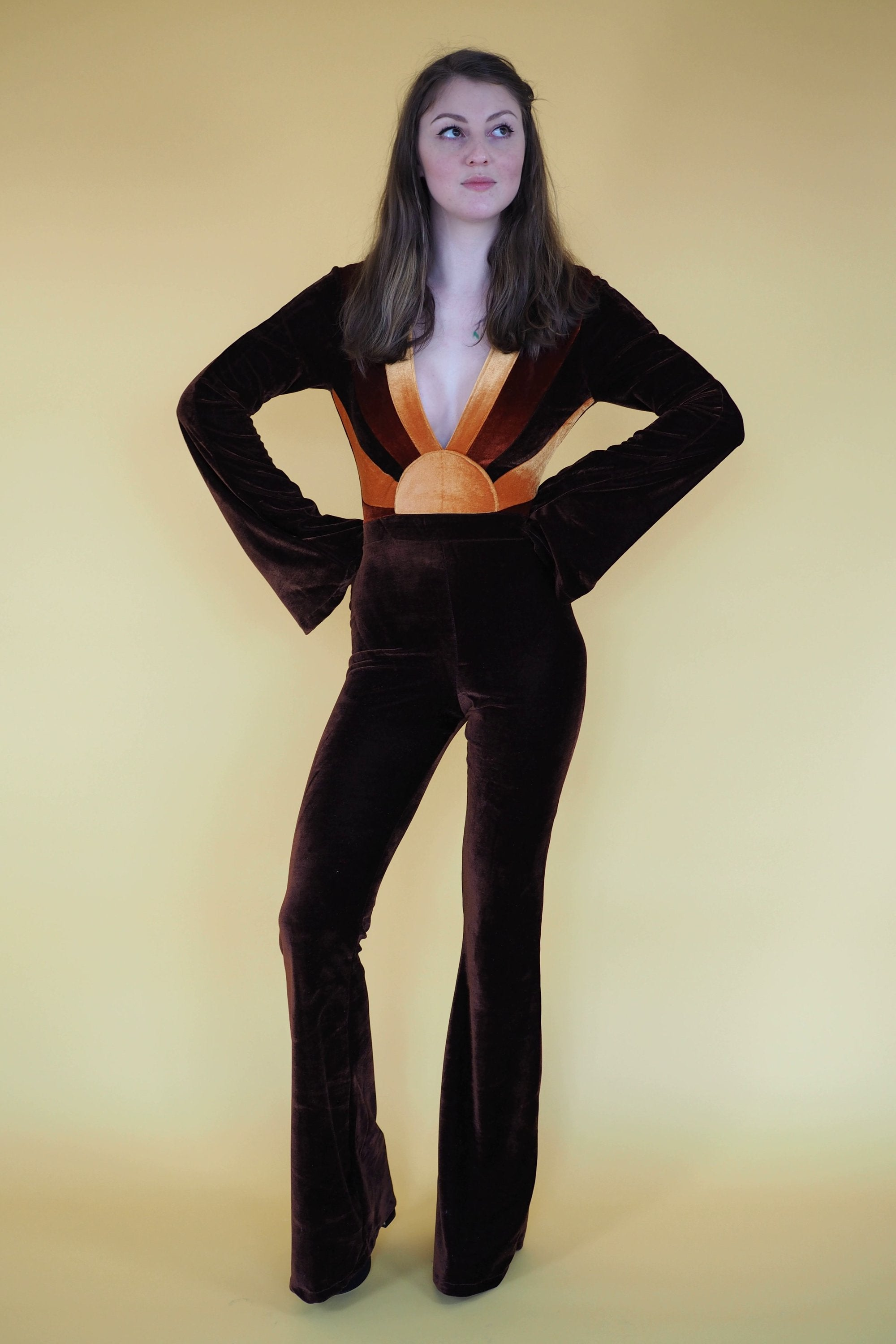 Sunrise Velvet Jumpsuit - Violet House