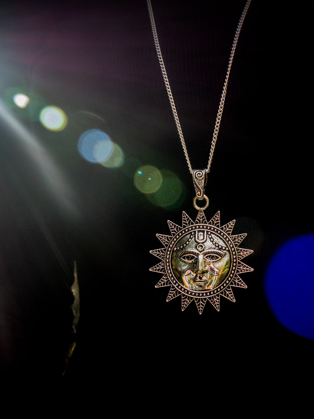 Sun God Pendant Necklace - Violet House