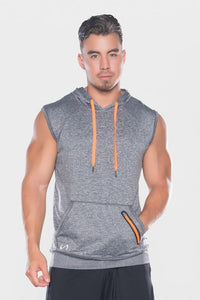 Men's TLF Brand Prime Pullover Sleeveless Hoodie (Grey)