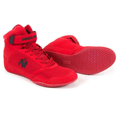 Gorilla Wear Weight Lifting Shoes - High Tops - Red