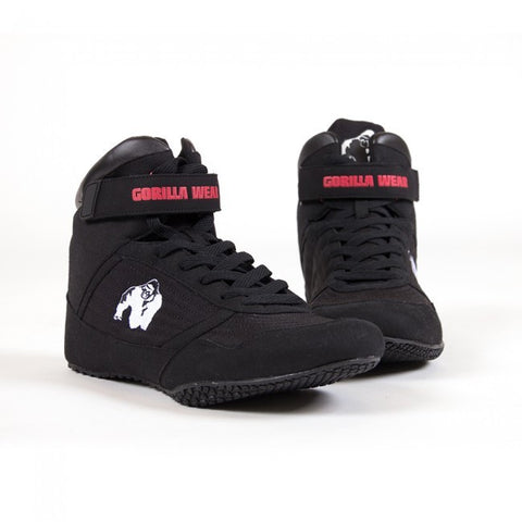 Gorilla Wear Weight Lifting Shoes - High Tops - Black