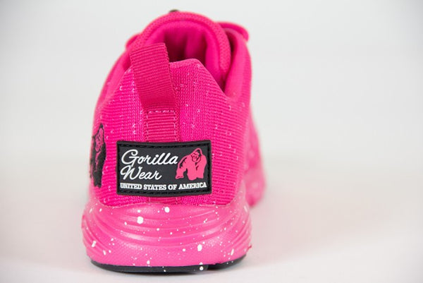 Gorilla Wear Women's Brooklyn Knitted Sneakers - Pink/White