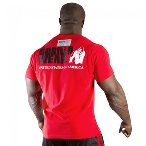 Gorilla Wear Classic Logo Tee New Style-Red