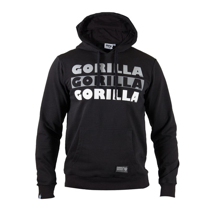 Gorilla Wear Men's Ohio Short Sleeve Hoodie (Black)