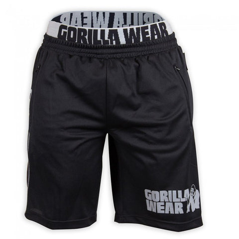 Gorilla Wear - Men's California Mesh Running Track Shorts - Black/Gray