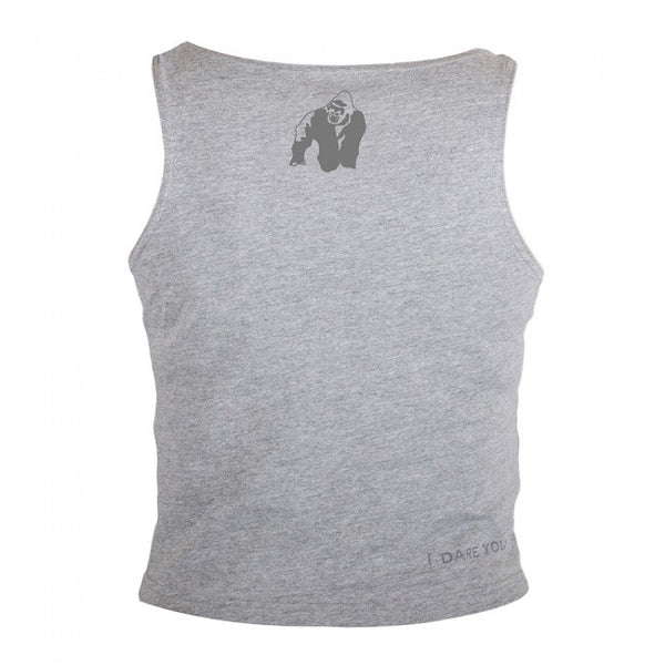Gorilla Wear Oakland Crop Tank - Gray/Neon Orange Camo