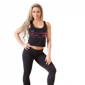 Gorilla Wear Oakland Crop Tank - Black/Pink Camo