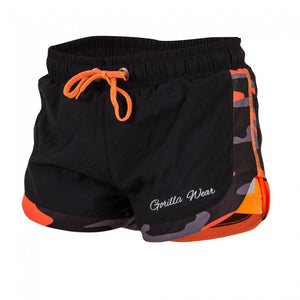 Gorilla Wear Denver Fashion Sport Shorts - Black/Neon Orange