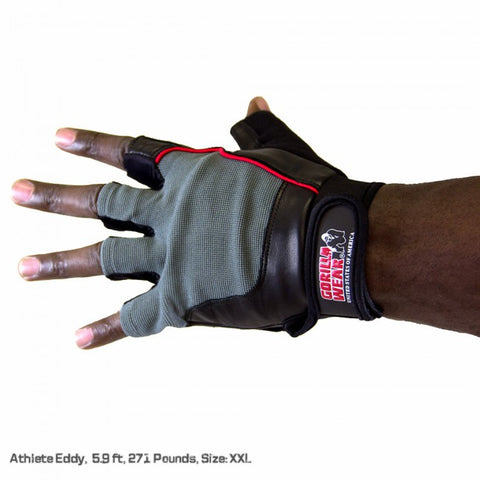 Gorilla Wear - Men's Weight-Training Gloves - Black/Gray
